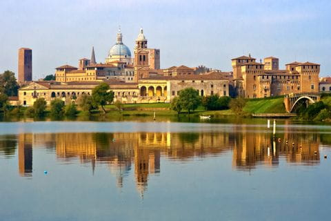 View of the city of Mantua