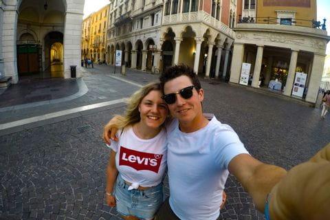 Selina und Nico in Padua