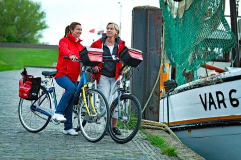 Radfahrer in Dangast