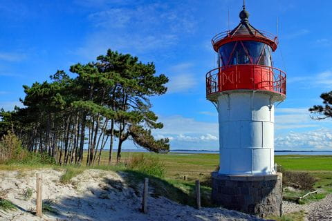 Lighthouse at the island Hiddensee