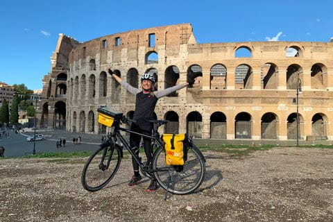 Verena infront of the Colosseum