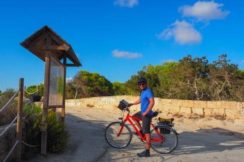 Cycling break at Platja es Trenc