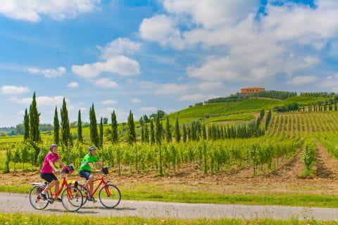 Radfahrer in Stabbia