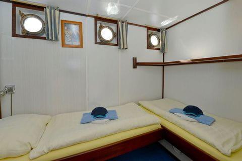 2-Bett-Kabine, Betten ebenerdig, MS JAN van SCOREL