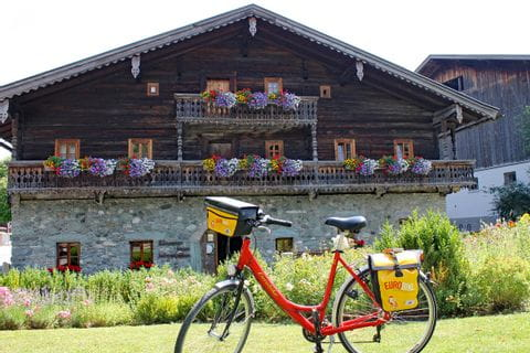"""Eurbike-bike in front of the museum """"Tauernmuseum"""""""