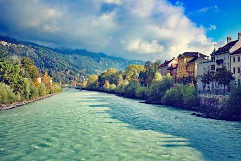 Blick auf den Inn in Innsbruck
