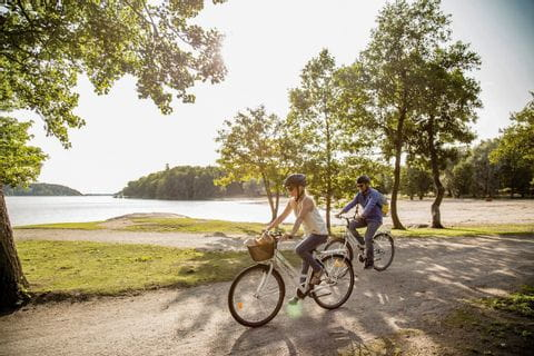 Cyclists on the island Ruissalo