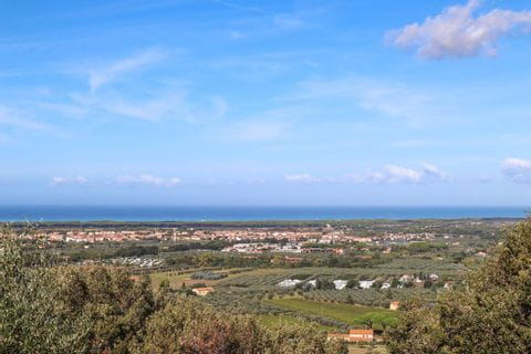 View on Livorno and the sea