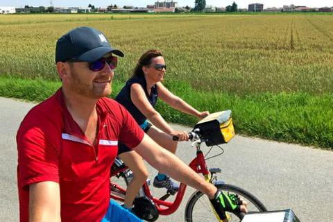 Family Reischl on their bikes