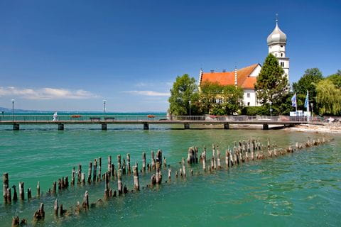 Castle Wasserburg at Lake Constance