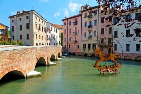 Brücke auf der Radtour durch Venetien