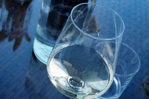 Weinglas in Brda
