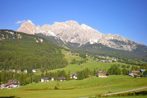 Blick auf Cortina d'Ampezzo