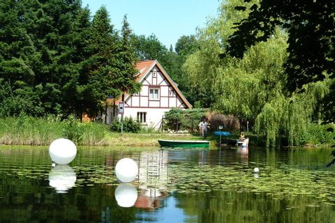 Half-timbered house in spree landscape