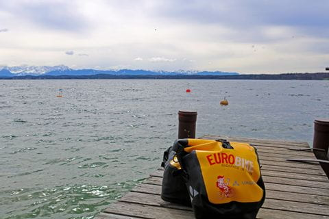 Lake Starnberg yellow panniers