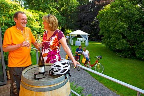 Weinverkostung nach einem schönen Radtag
