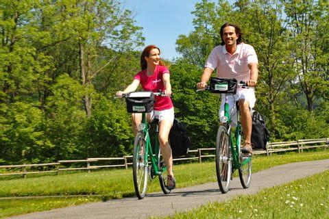 Cyclists on Main cycle path