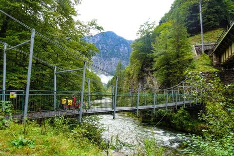 Suspension bridge in Obertraun