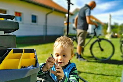 Davids Sohn Timo hilft bei Radcheck