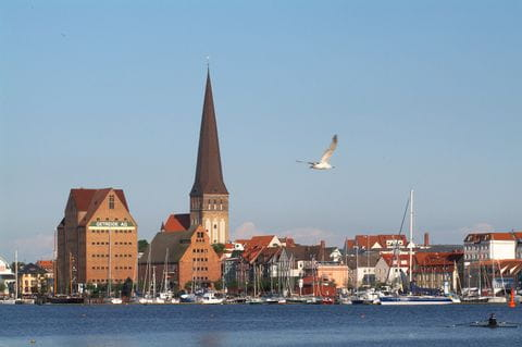 View of Rostock from the Gehlsdorfer Ufer