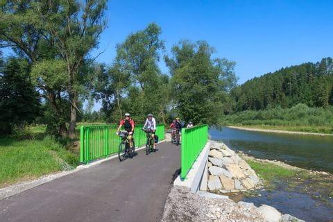 Radler am Dunajec Radweg