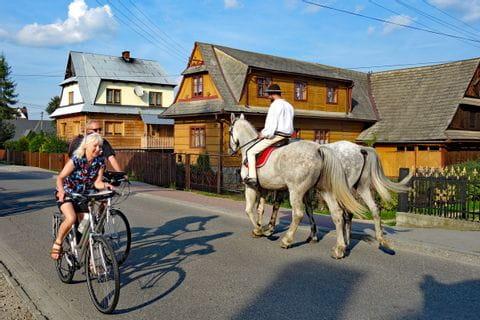 Cyclist on the Dunajec Cycle Path