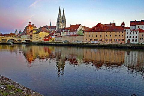 Regensburg at Danube