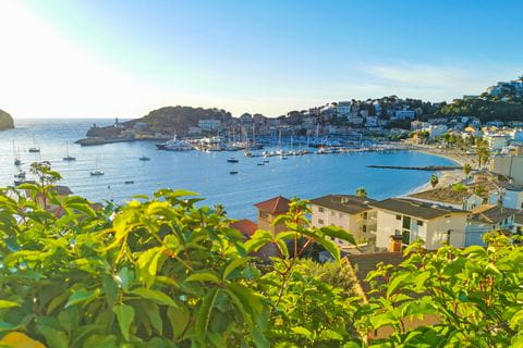 Ausblick auf Port de Soller Mallorca