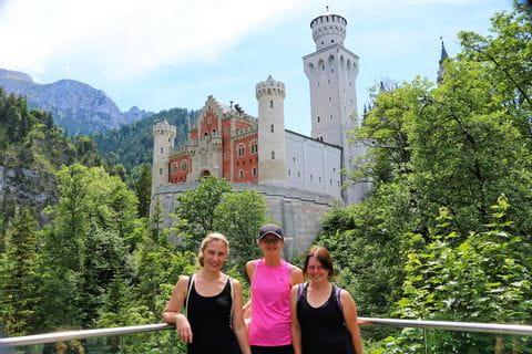 Radpause bei Schloss Neuschwanstein