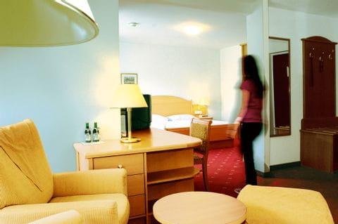 Hotel Post Traunkirchen Blick in das comfortable Doppelzimmer
