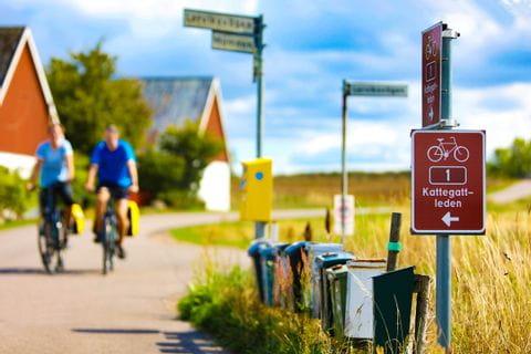 Radfahrer in Kattegattleden