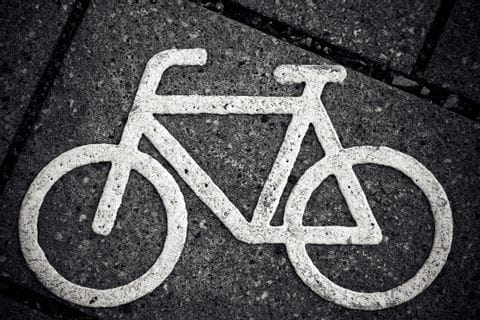 Cycling through the citys in Austria