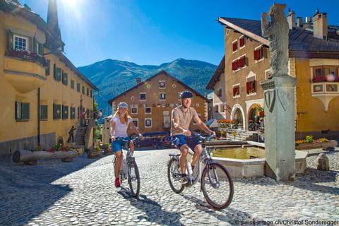 Radfahrer in St. Moritz
