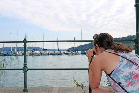 Melanie beim Fotografieren