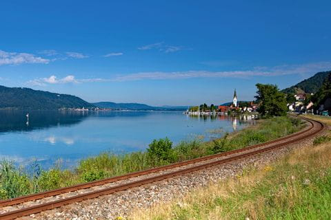 Railway lines in Sipplingen at Lake Constance