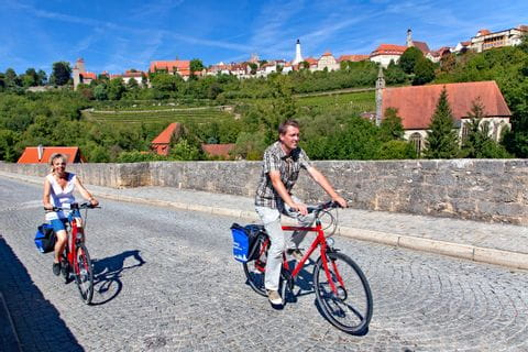 Cyclists around Rothenburg