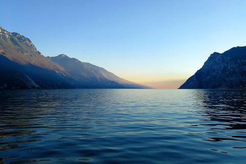 Panoramic view at the lake