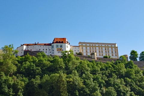 View over the Fortress Veste Oberhaus in Passau