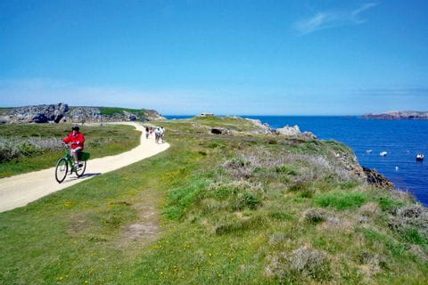 Cycle path along the coast