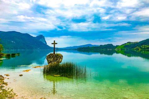 Cross at Lake Mondsee