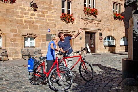 Radpause in Ansbach