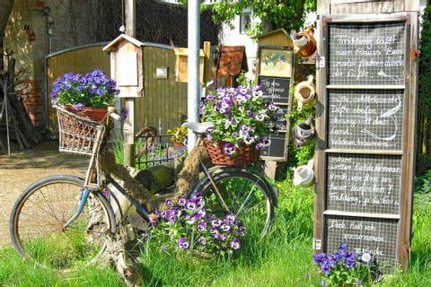 Fahrrad als Dekoration