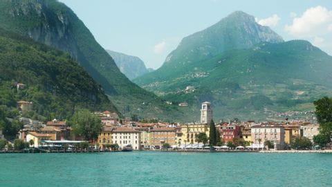 View over Riva del Garda at Lake Garda