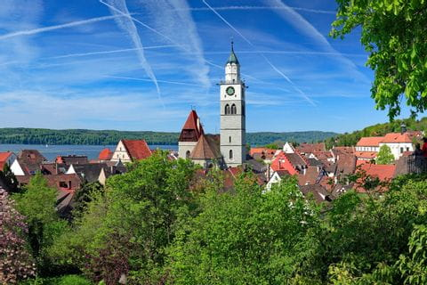 View over Überlingen at Lake Constance