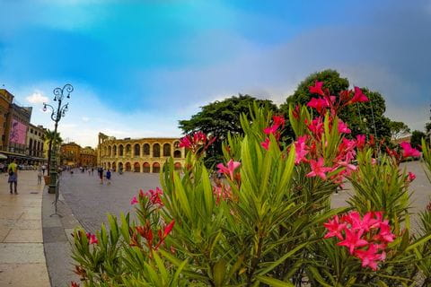 Verona Stadtplatz mit Amfitheather