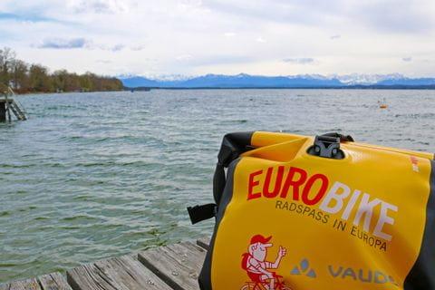 Eurobike pannier on the lake starnberg