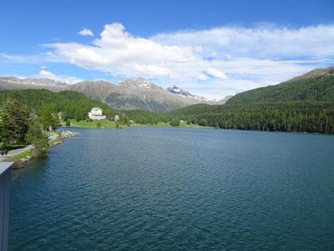 Beautiful lake by Maloja