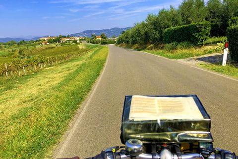 Radfahrt mit Routenbuch