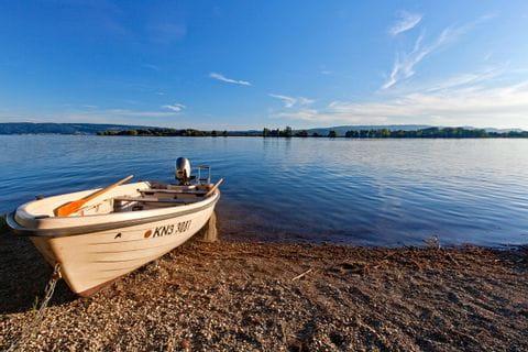 Boat at the bank of Lake Constance