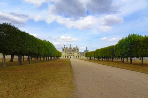 Castle Chambord on the Loire cycle path